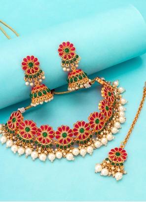 Multi Colour Kundan Festival Necklace Set