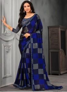 Multi Colour Lace Classic Designer Saree