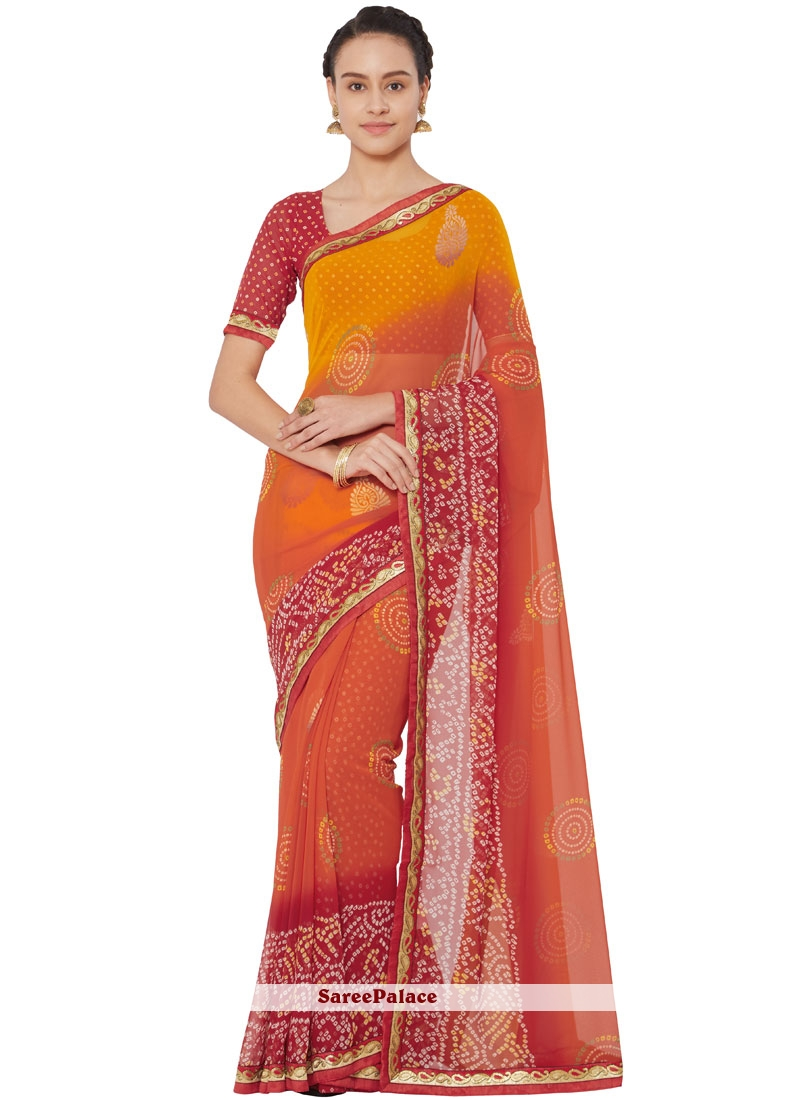 Multi Colour Lace Saree