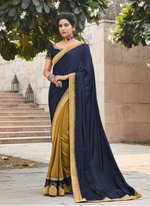 Multi Colour Lace Silk Designer Saree