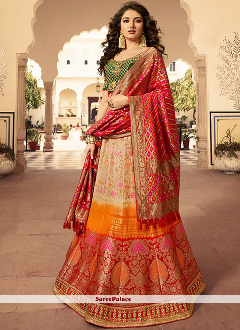 a640c47896 Buy Multi Colour Mehndi Designer Lehenga Choli Online