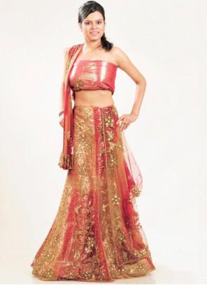 Multi Colour Net Lehenga Choli
