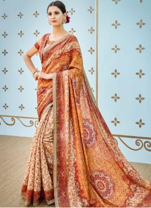 Multi Colour Party Art Silk Designer Traditional Saree