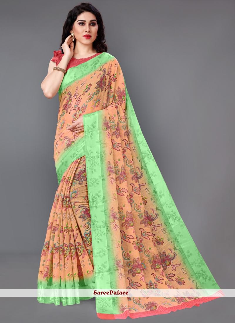 Multi Colour Party Cotton Casual Saree