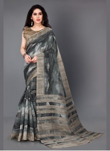 Multi Colour Party Khadi Silk Bollywood Saree