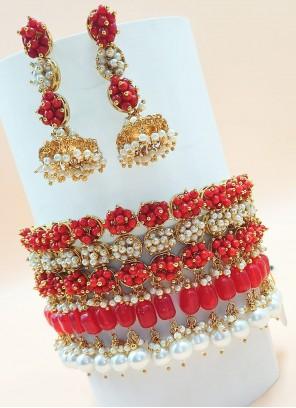 Multi Colour Party Necklace Set