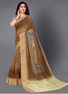 Multi Colour Party Silk Designer Saree