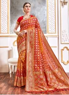 Multi Colour Party Viscose Designer Saree