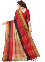 Multi Colour Poly Cotton Woven Casual Saree