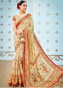 Multi Colour Print Art Silk Traditional Designer Saree