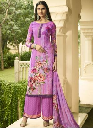 Multi Colour Print Designer Palazzo Suit