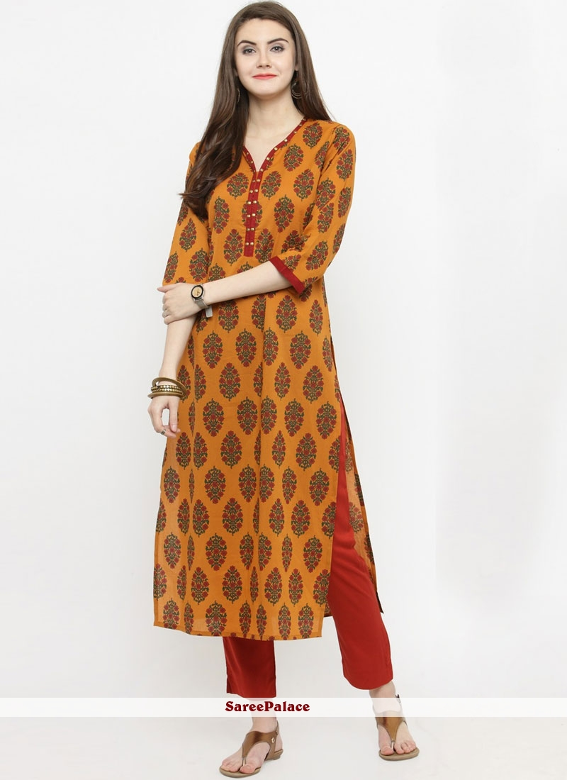 Multi Colour Print Party Wear Kurti