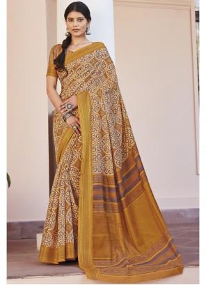 Multi Colour Print Saree