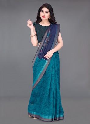 Multi Colour Printed Bollywood Saree