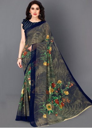 Multi Colour Printed Bollywood Saree