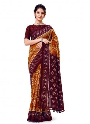 Multi Colour Printed Casual Saree