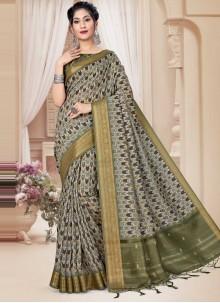 Multi Colour Printed Ceremonial Classic Saree