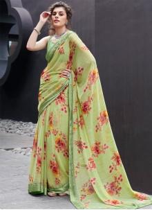 Multi Colour Printed Classic Saree