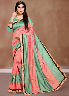 Multi Colour Printed Party Bollywood Saree