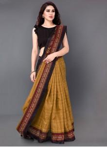 Multi Colour Printed Silk Casual Saree