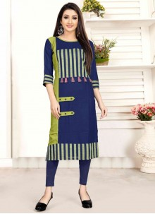 Multi Colour Rayon Designer Designer Kurti