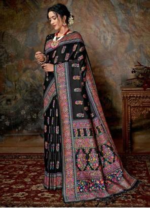 Multi Colour Reception Banarasi Silk Classic Saree