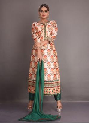 Multi Colour Resham Fancy Fabric Readymade Suit