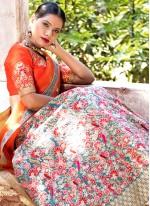 Multi Colour Resham Lehenga Choli