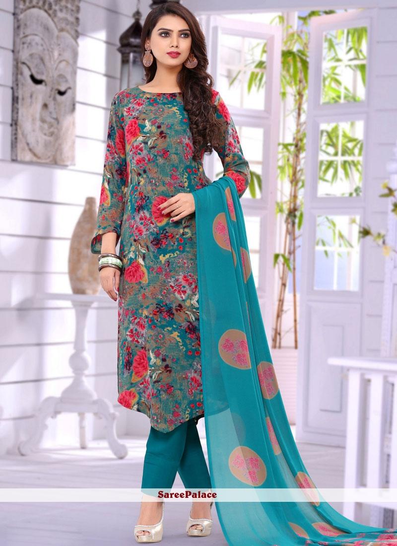 Multi Colour Salwar Suit
