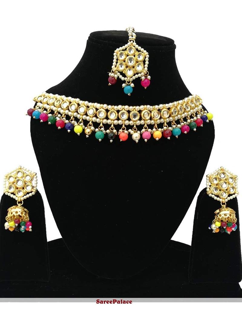 Multi Colour Sangeet Bridal Jewellery
