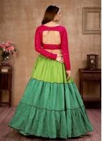 Multi Colour Sequins Lehenga Choli