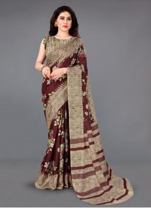 Multi Colour Silk Casual Classic Saree
