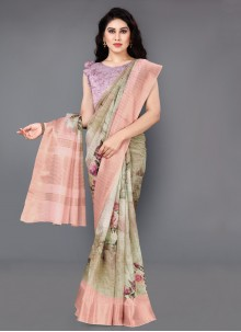 Multi Colour Silk Casual Saree