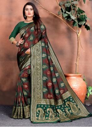 Multi Colour Silk Classic Saree