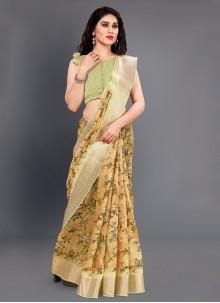 Multi Colour Silk Designer Saree
