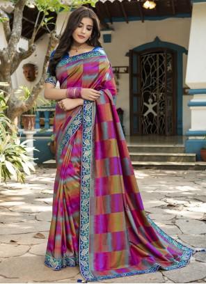 Multi Colour Silk Festival Classic Saree