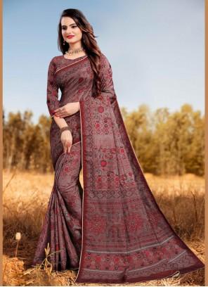 Multi Colour Silk Festival Designer Saree