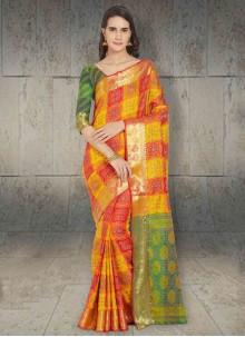 Multi Colour Silk Festival Silk Saree