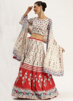 Multi Colour Silk Festival Trendy Lehenga Choli
