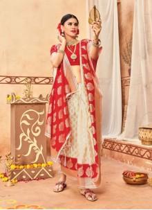 Multi Colour Silk Party Traditional Designer Saree