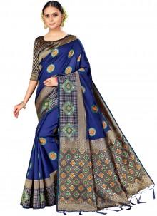Multi Colour Silk Saree
