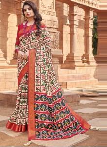 Multi Colour Silk Traditional Saree
