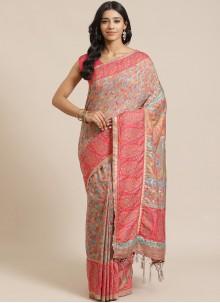 Multi Colour Silk Weaving Designer Traditional Saree