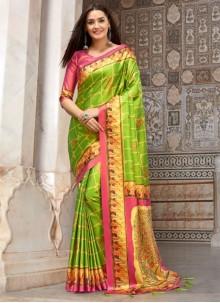 Multi Colour Silk Weaving Saree