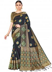 Multi Colour Silk Woven Designer Saree