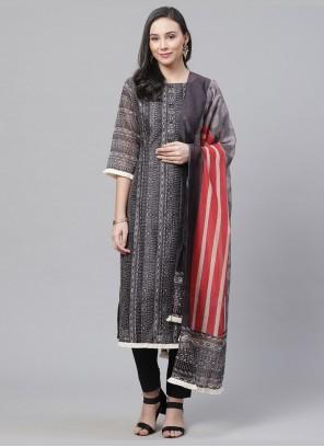 Multi Colour Straight Salwar Kameez