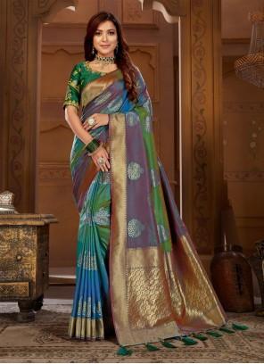 Multi Colour Thread Classic Saree