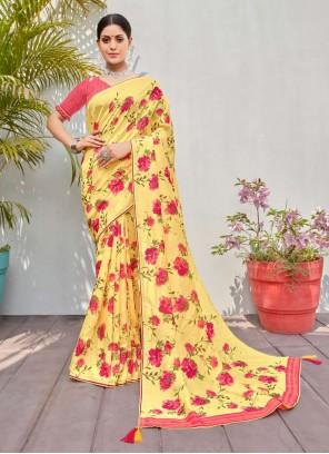 Multi Colour Cotton Silk Traditional Saree
