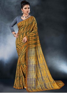 Multi Colour Tussar Silk Festival Printed Saree
