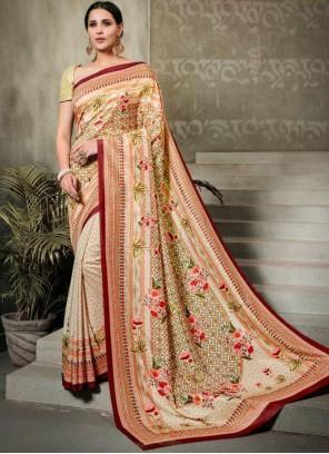 Multi Colour Tussar Silk Trendy Saree